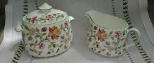 One MINTON CHINA HADDON HALL Creamer and Sugar SET