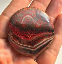 Breath Taking 1.7 inch Blood veined dragon veins agate bead eye, holy moly!