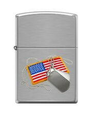 Zippo 200 dog tags and american flag Lighter