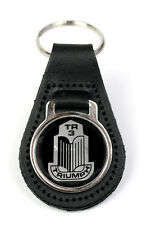 Triumph TR3 Grille Logo Quality Black Leather Keyring
