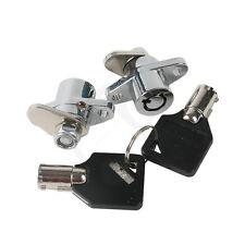 2 Keys+2 PCS Hard Saddlebag Locks Set For 93-up Harley Davidson Road Glide King