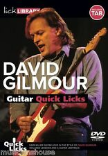 LICK LIBRARY Learn To Play QUICK LICKS DAVE DAVID GILMOUR BLUES Guitar DVD TAB