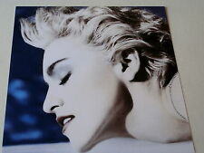 "MADONNA~ TRUE  BLUE COVER ~ PROMO POSTER FLAT ~ 12"" X 12"""