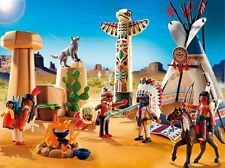 BNIB Playmobil 5247 WESTERN Native American Camp with Totem Pole - LAST ONE!