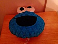2013 SESAME STREET COOKIE MONSTER TALKING PLUSH DOLL FIGURE FACE PILLOW
