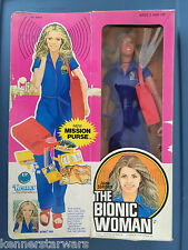 1977 Kenner BIONIC WOMAN Action Figure with Mission Purse FACTORY SEALED