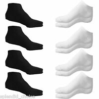 6 X Pairs New Mens Trainer Liner Ankle Gym Socks Size 6-11 , White & Black