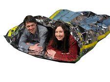 thermal mylar emergency survival sleeping blanket camping blankets pack 1 bag