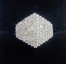 9ct White Gold 1.00ct Diamond Cluster Ring, Size O (US 7 1/4)