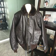 G-1 Barely Worn Pharr DSCP Leather Flight Jacket USMC Marines USN Sz 46 XL Nice