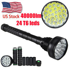 Brightness Vastfire 40000LM 24x XM-T6 LED Flashlight Torch Camping Light 5 Modes