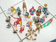Kids action figures lot of various ones Smurfs Lion king Spider-man Scooby-doo+