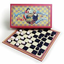 House of Marbles Vintage Retro Style Gift Boxed Checkers / Draughts Game