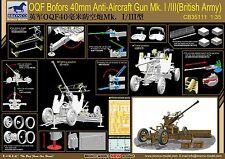 Bronco 1/35 BRI Army Mk.I/III Ordnance QF 40mm Bofors Anti Aircraft Gun#35111