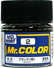 MR HOBBY Color C2 Black Gloss Paint Bottle 10ml