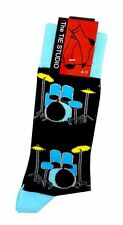 Blue Drum Kit Socks by Tie Studio - Music Themed Gift - Musical Socks