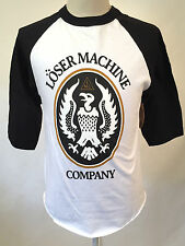 Loser Machine Men's Baseball T-Shirt Warsaw White/Black Size M NWT Eagle Crest