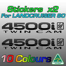 Stickers decals for Land Cruiser 80 4500i Twin Cam  **Premium Quality**