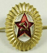Original Soviet Russian Army Officer Uniform Military Hat Cap Beret Badge USSR