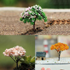 3X DIY Garden Decoration Bonsai Sakura Tree Miniature Plant Pots Fairy Ornament