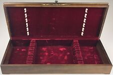 "Oneida Velvet Lined Wooden Silverware Flatware Storage Box Chest (20""x8""x3 3/8"")"