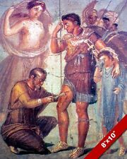 DOCTOR HEALING SOLDIER AENEAS POMPEII FRESCO PAINTING ART REAL CANVAS PRINT