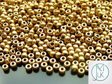 10grams MATUBO 8/0 Czech Seed Beads Pale Gold 00030/01710