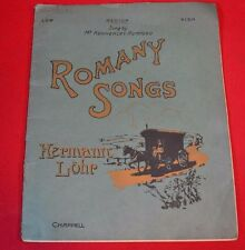 Romany Songs Hermann Lohr 1909 Antiquarian Vintage Gypsy Music Paperback