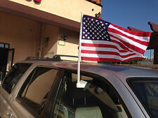 "12"" x 18"" Window Clip On American USA Car Flag (Made in Taiwan) Brand New!"