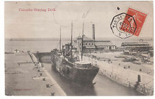 1909 France Paqueboat Real Picture Postcard Cover Colombo Graving Dock
