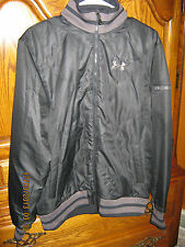 NWT Men Under Armour Storm Water Resistant Polyester Coat Solid Black Sz M