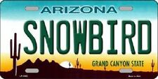 Snowbird Arizona Novelty Metal License Plate