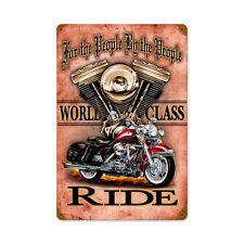 Biker Chopper Motorrad For The People V Twin Harley Sign Blechschild Schild Groß