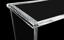 "Clear Lucite Acrylic Console Table Desk  1"" Thick  Modern Luxe Console"