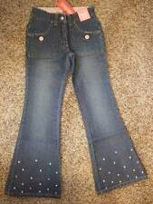 NWT GYMBOREE ~ ICE CREAM SOCIAL denim blue jeans pants embroidered dots ~ 8 SLIM