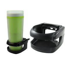 Black Plastic Clip-on Car Drink Holder In Car Cup Bottle Can Stand Holder New