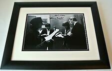 George Martin SIGNED FRAMED Photo Autograph 16x12 Huge display Beatles Music COA
