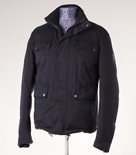 $995 BELSTAFF 'Chorley' Reversible Goose Down Quilted Puffer Jacket L Black