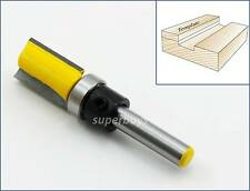 "1/2 x 1/4"" Top Bearing Wood Edge Flush Trim Straight Router Cutter Bit Tool YT"