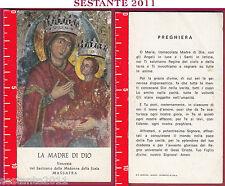 1919 SANTINO HOLY CARD MADONNA LA MADRE DI DIO DELLA SCALA MASSAFRA