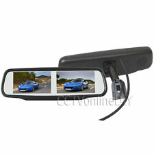 "4.3"" TFT LCD Dual Display Car Rearview Mirror Monitor w/ Special Bracket 4CH in"