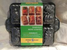 BRAND NEW NORDIC WARE HARVEST MINI LOAVES CAST ALUMINUM BAKING MOLD
