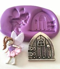 Fairy Girl and Door Silicone Moulds Cake Decorate Icing Fondant Sugarpaste Tool