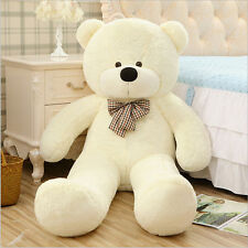 HOT GIANT BIG CUTE PLUSH TEDDY BEAR HUGE White SOFT 100% COTTON TOY GIFT 140CM