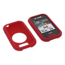 Tasche für Polar V650 Schutz Hülle Silikon Gummi Case GPS Computer Rot