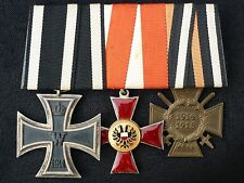 ORIGINAL GERMAN IRON CROSS, HANSEATIC LUBECK CROSS, HINDENBURG CROSS TRIO WW1