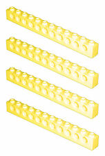 Missing Lego Brick 3895 Yellow x 4 Technic Brick 1 x 12 with Holes