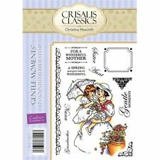Crafters Companion CRISALIS A6 Unmounted Rubber Stamps GENTLE MOMENTS CRIS-GEN
