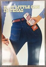 Sexy Girl Beer Poster ~ Schlitz Cowgirl Best Little Can In Texas TIGHT JEANS