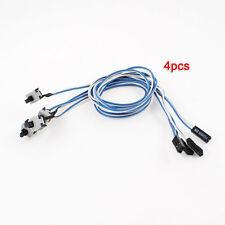 Par PC Power Push Button Switch Connector Cable 4 Pcs AD